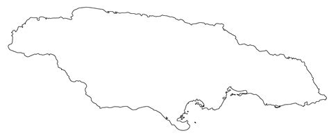 Island Outline by Blank Jamaican Map