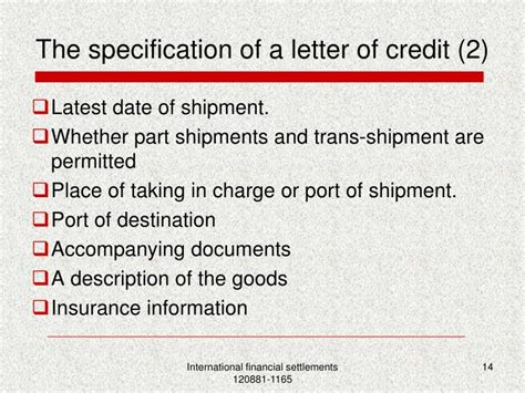 Letter Of Credit Ppt Presentation Ppt The Documentary Credit Powerpoint Presentation Id 4087425