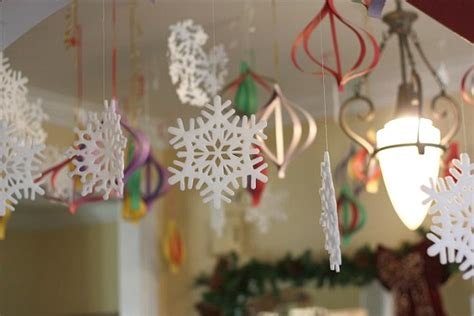 hand made christmas out of paper high impact low budget paper craft decorations balancing and bedlam