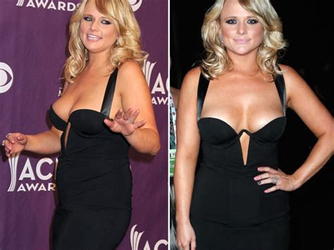 miranda lambert acm awards dress chest almost