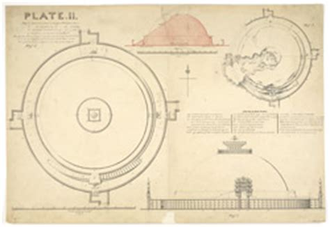 Floor Plan Online plan elevation and section of large stupa with notes sanchi
