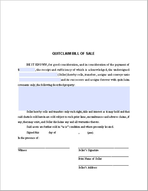 sle invoice claim quitclaim bill of sale form free fillable pdf forms