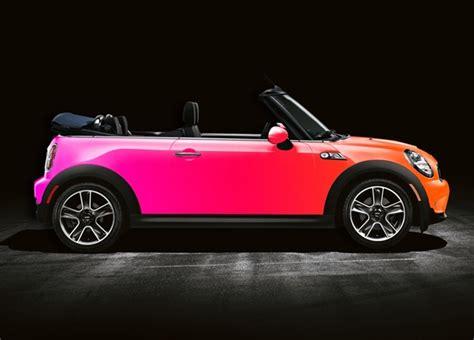mini carwrap fade from orange to pink i d drive this vvvrrrroooommmm minis