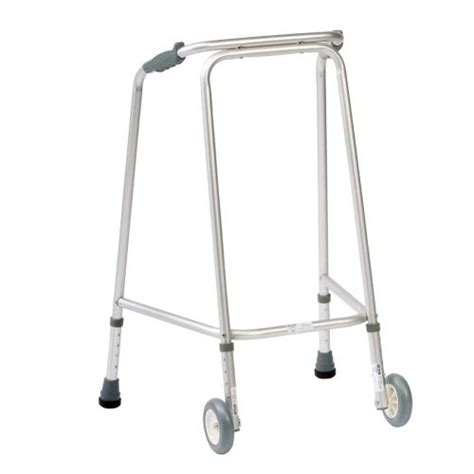 Frame Walker 2 lightweight height adjustable 2 wheel walking zimmer frame with wheels walker ebay
