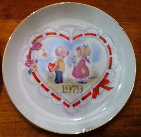 valentines day plates happy s day collector plate by vintagechicsresale