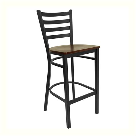Ladder Back Bar Stools With Seats by Ladderback Mahogany Seat Bar Stool King Dinettes
