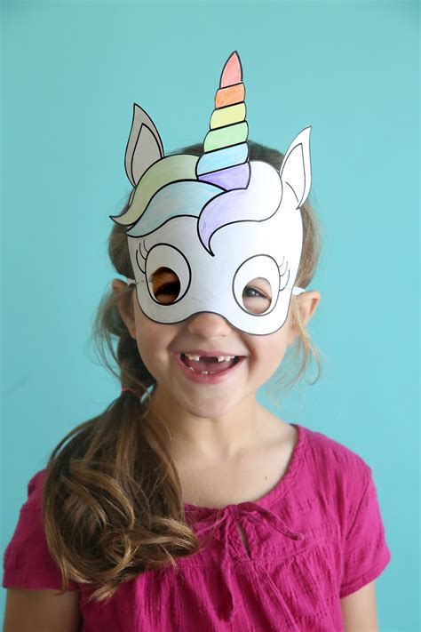 Print Mask unicorn masks to print and color free printable it s