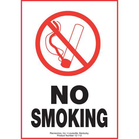 no smoking sign plastic polyethylene plastic no smoking symbol sign from recreonics