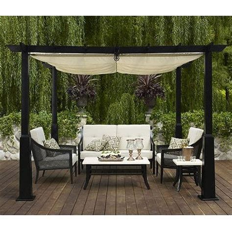 Retractable Awnings For Pergolas Patio Canopy
