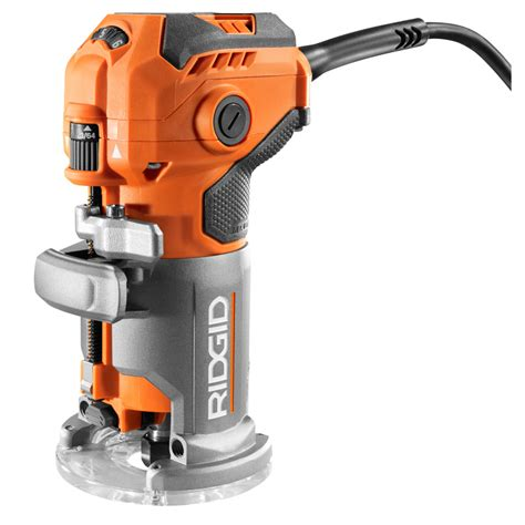 ridgid 5 5 corded compact router r24012 the home depot