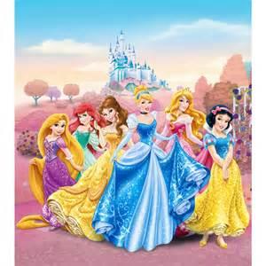 Blue Bedroom Curtains Uk Disney Princesses Sparkle Wallpaper Xl Great