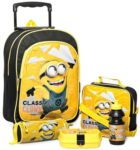 Minion Set Black Or Yellow buy despicable me minions 16 inch school trolley bag 5 in