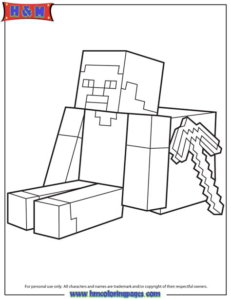 minecraft alex coloring coloring pages