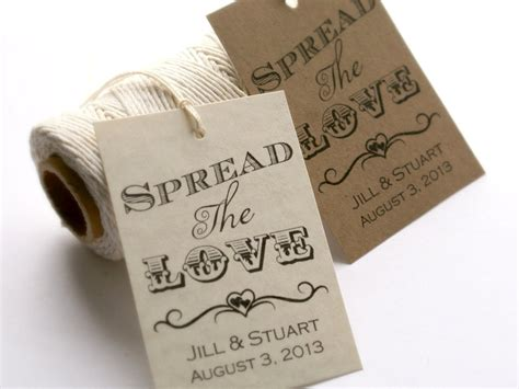 printable spread the love tags diy wedding favor tags