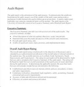 financial audit report template audit report format besttemplates123