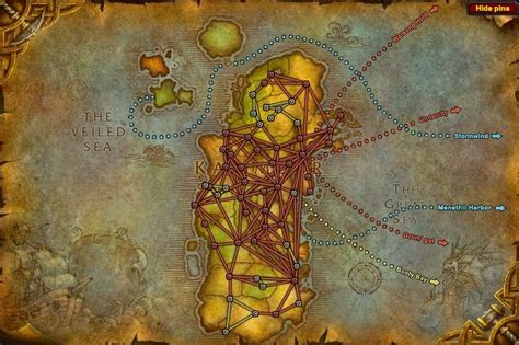 wow boat to ratchet transportation guide maps portals flight paths and