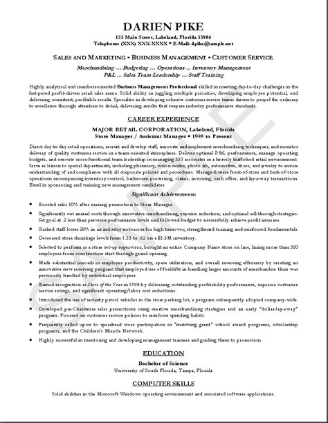 profession resume exles of professional resumes writing resume sle