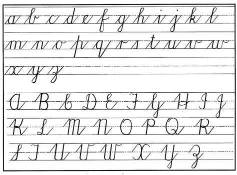 printable cursive letters uppercase and lowercase uppercase and lowercase letters learning kiddo shelter
