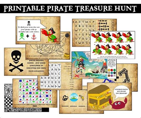 Treasure Hunt Cards Template by This Printable Pirate Treasure Hunt Is Fantastic So Easy