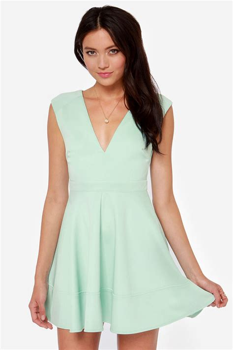 Light Blue Skater Dress by Blue Dress Skater Dress V Neck Dress Light Blue