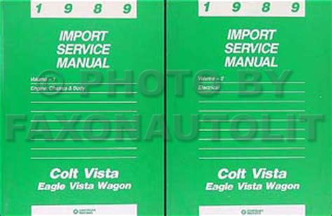 car maintenance manuals 1989 dodge colt security system 1989 colt vista wagon shop manual set dodge plymouth eagle repair service books ebay
