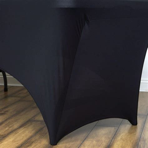 4 ft rectangular spandex table cover 4 ft rectangular spandex table cover black tablecloths
