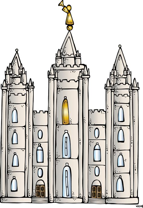 Melonheadz Lds Illustrating Salt Lake Temple Coloring Page