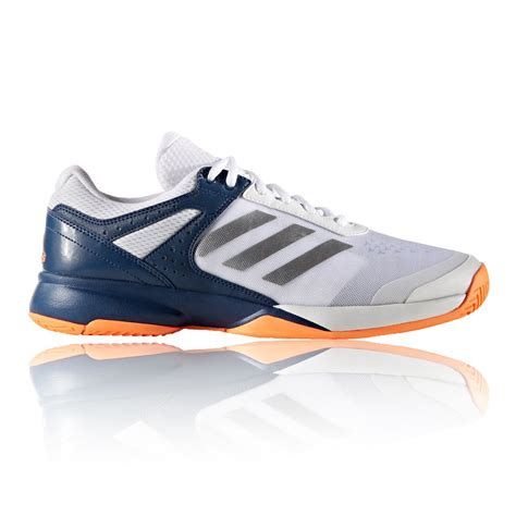 mens shoes sports adidas adizero mens white blue tennis court sports shoes
