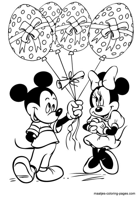 mickey mouse easter coloring pages to print minnie and mickey mouse easter eggs balloons