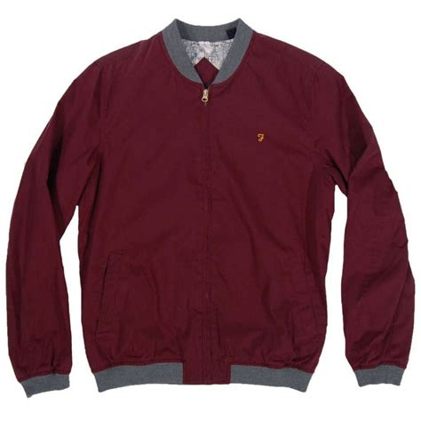 farah wheeler jacket claret mens jackets from attic