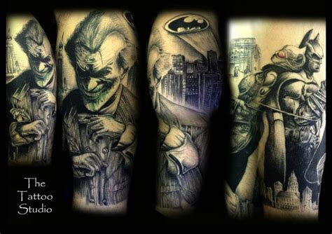 joker tattoo arkham city 41 best batman tattoo sleeve images on pinterest batman