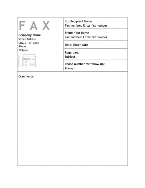 Letters Office Com Microsoft Office Fax Template