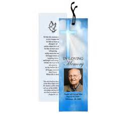 Funeral Bookmarks Template Free by Spiritual Or Christian Based Themed Memorial Bookmarks