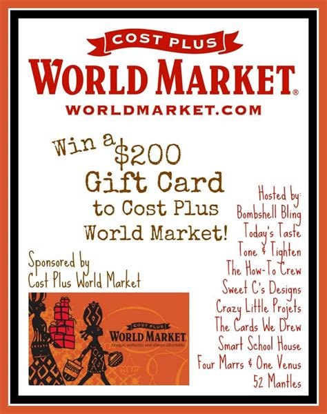 How To Market Gift Cards - giveaway world market gift card
