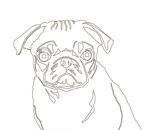 pug line drawing pug line by ladygryph on deviantart