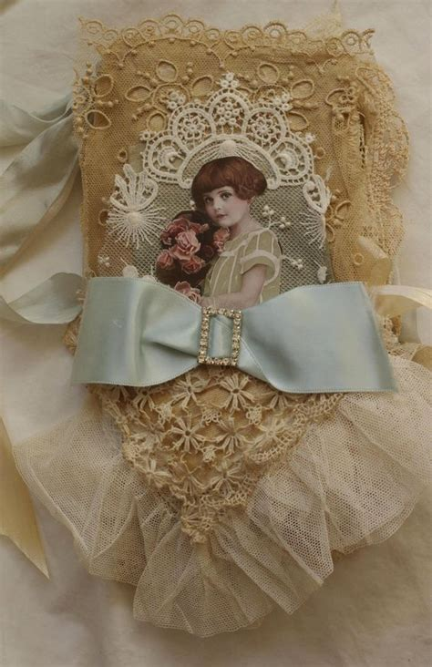 front cover of shabby chic fabric book mixed media