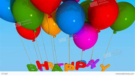 Lilin Happy Birthday Glitter balloon happy birthday stock animation 511641