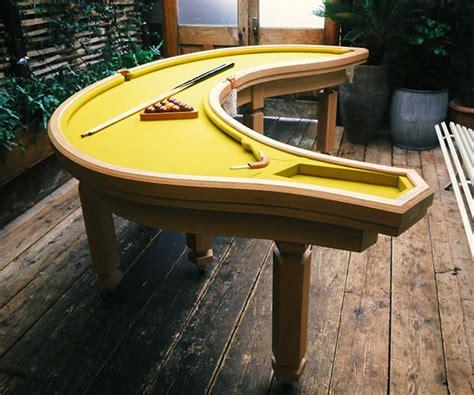 cool pool tables banana shaped pool table