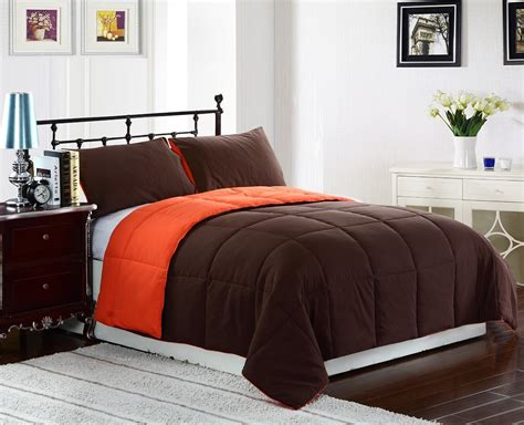Orange Bed Sets Comforters Bright To Burnt Orange And Brown Comforter Bedding Sets