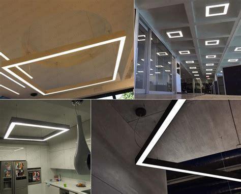 Modern Suspended Ceiling 400mm 500mm 1000mm Modern Square Hanging Decorative Led