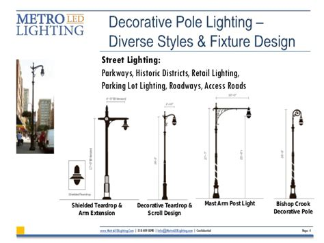 decorative parking lot light fixtures led retrofitting of decorative pole lighting guide july 2013