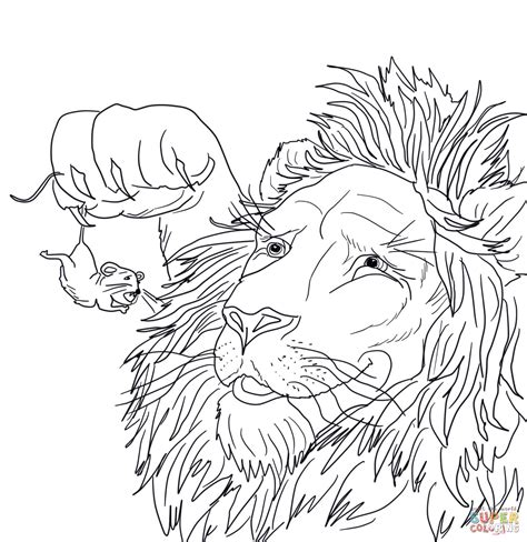 coloring pages the lion and the mouse lion and mouse coloring sheets in a net coloring pages