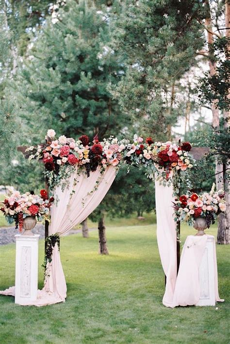 Garden Wedding Altar Ideas 30 Best Floral Wedding Altars Arches Decorating Ideas Outdoor Wedding Arches Arch And Floral