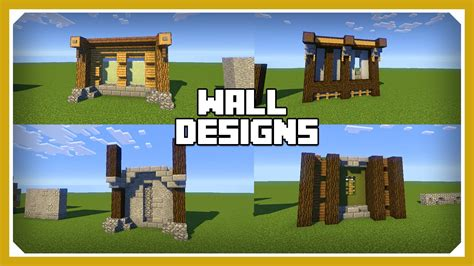 Minecraft Design by Minecraft How To Build A Wall Design Tutorial Easy