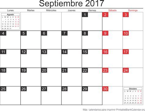 Calendario Para Imprimir Calendario Para Imprimir Septiembre 2017 Calendarios