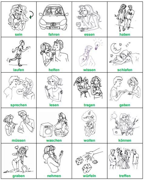 imagenes ingles verbos 100 tarjetas con dibujo de verbos alemanes b 225 sicos