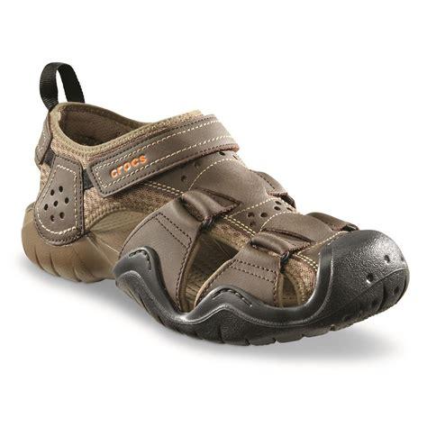 Sandal Croc crocs s swiftwater leather 2 0 fisherman sandals