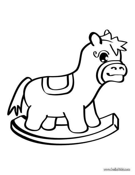 toys coloring pages preschool horse toy coloring pages hellokids com