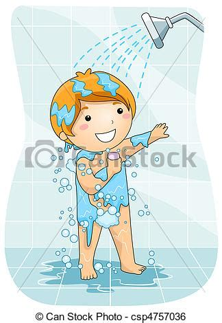 House Plans For Free by Stock Illustration Of Kid In The Shower A Young Boy Taking A Shower Csp4757036 Search Clip