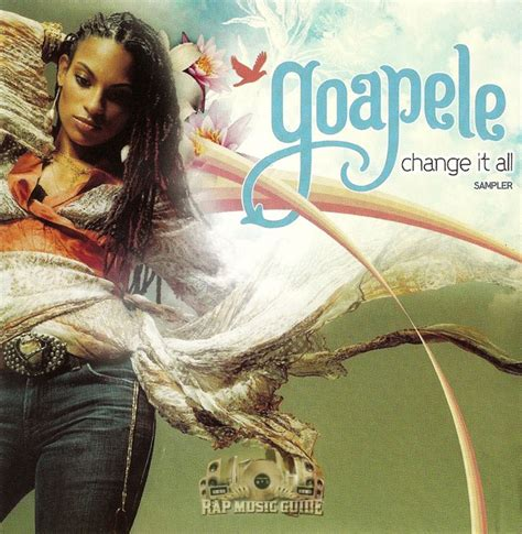 goapele cd covers goapele change it all sler 2nd press promo cd